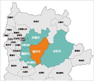出張エリア情報の地図画像