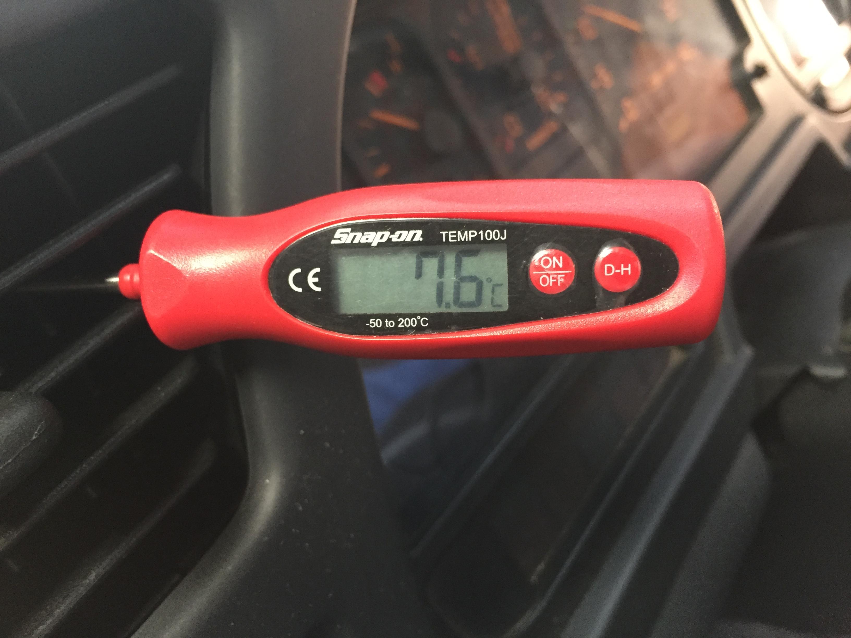 エアコン修理で温度を−2℃に体感